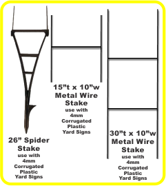 Sign Stake Options